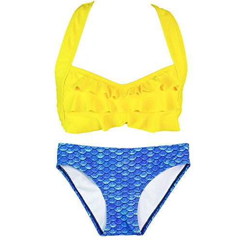 Fin Fun Mermaid Girls Sea Wave Bikini Set, Mermaiden Swimwear