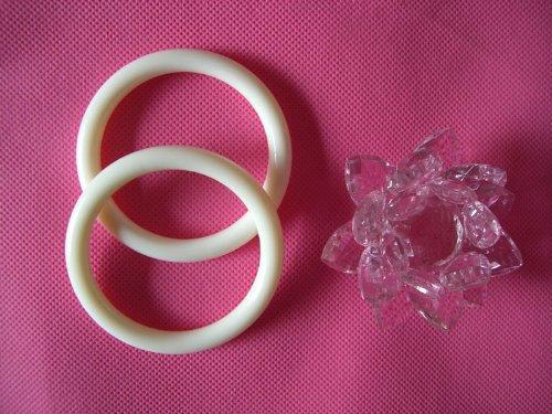 ★KiumiBaby★ ベビースリング用リング 2本セット ナイロン製  6色・ホワイト