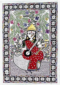 Organic Folk Paintings Madhubani Art Home Decor