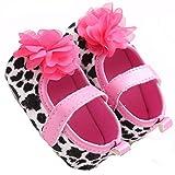 etrack-online beb� ni�a Prewalker Mary Jane grandes flores leopardo suave soled zapatos leopardo Talla:0-6 meses