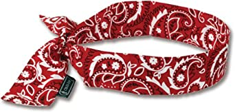 Ergodyne Chill-Its Evaporative Cooling Bandanas - Red - Red - Lot of 24