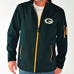 Green Bay Packers NFL Inside Handoff Full Zip Softshell Premium Jacket by G-III Sports