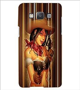 PrintDhaba Gun Girl D-5038 Back Case Cover for SAMSUNG GALAXY A5 (Multi-Coloured)