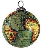 Old World Map Globe Hanging Christmas Tree Ornament