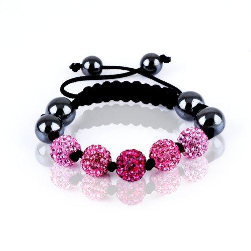 Rivertree London Children's crystal disco ball shamballa bracelet b511 June