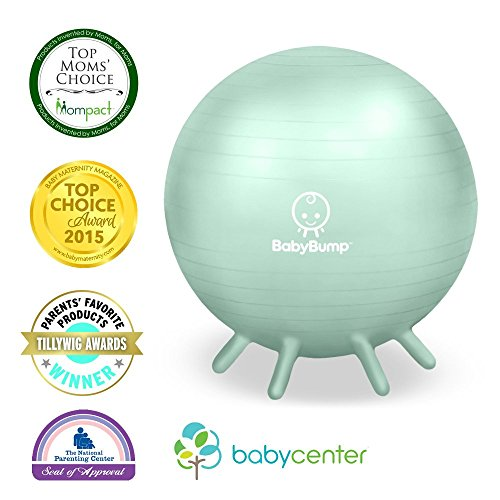 Baby-Bump-Birth-Ball-with-Base-Legs-StabilityBalanceStand-Anti-burst-Pump-Exercise-during-Pregnancy-Prenatal-Fitness-Induces-Labor-Soothes-Babies-Yoga-Moms-Cute-Practical-Best-Baby-Shower-Gift-65-cm-L