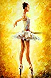 Palette Knife Canvas for Home Decoration,In The Ballet Class Wall Art 24 x 36 in Unframed