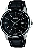 Casio Men's Quartz Watch with Black Dial Analogue Display and Black Leather Strap MTP-1344Al-1A1VEF