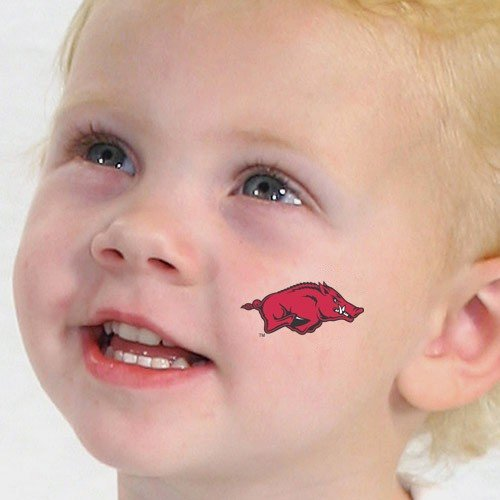 NCAA Arkansas Razorbacks Temporary Tattoos at Amazon.com
