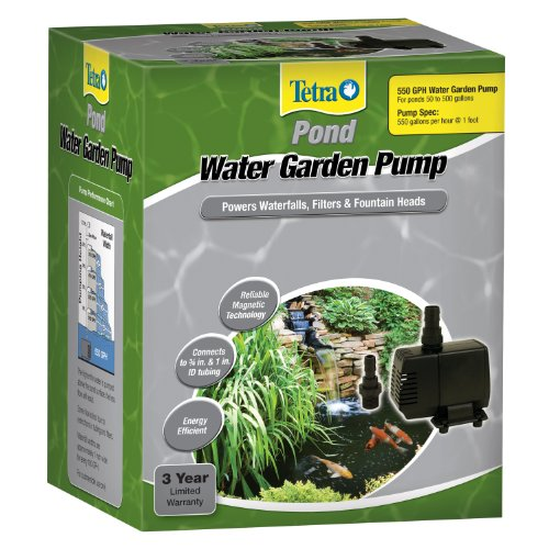 Tetrapond water garden pump 550 gph new free shipping for Garden pond pump and filter