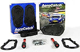 AeroCatch Plus Flush Hood Latch and Pin Kit - Black - Now includes Molded Fixing Plates - Part # 120-2000