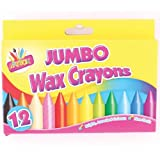 2 X Artbox 12 jumbo size wax crayons set of 12 assorted colours