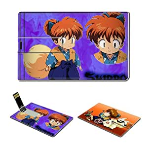 16GB USB Flash Drive USB 2.0 Memory Credit Card Size Anime Inuyasha Comic Game Customized Support Services Ready Shippou 002