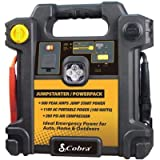 Cobra Cjic250 100w/120v Ac Output 260 Psi Car Jump Starter With A Power Pack