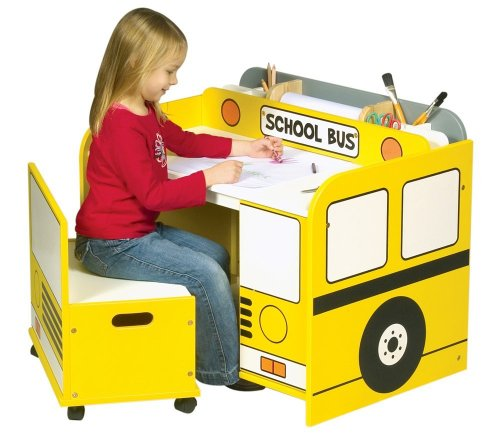 School bus desk by guidecraft toys and games - School bus table and chair ...