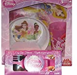 Zak Designs Disney Princess 3-Piece Plate, Bowl and Tumbler Dinner Set