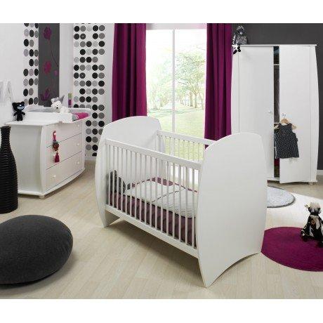 Alfred & Compagnie - Chambre bébé 60x120 complète blanc Violette