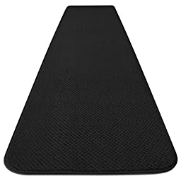 Skid-resistant Carpet Runner - Black - 4 Ft. X 27 In. - Many Other Sizes to Choose From