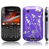 BLACKBERRY BOLD 9900 FLOWER AND BUTTERFLY BACK COVER CASE / SHELL / SHIELD - PURPLE PART OF THE QUBITS ACCESSORIES RANGEby Qubits