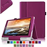 Fintie Lenovo Yoga 10 / Yoga 10 HD+ Folio Case - Premium Leather Cover With Stylus Holder (For Yoga Tablet 10.1-Inch / Yoga Tablet 10.1-Inch HD+) - Purple