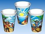 10 Gobelets Playmobil Pirate - Anniversaire Enfant - Goûter enfant