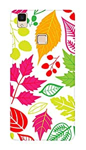 SWAG my CASE PRINTED BACK COVER FOR VIVO V3 MAX Multicolor
