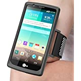 LG G4 Armband, J&D Sports Armband for LG G4, Key holder Slot, Perfect Earphone Connection while Workout Running Armband For L