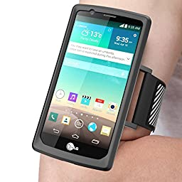LG G4 Armband, SUPCASE Easy Fitting Sport Running Armband with Premium Flexible Case Combo for LG G4 2015 Release (Black)
