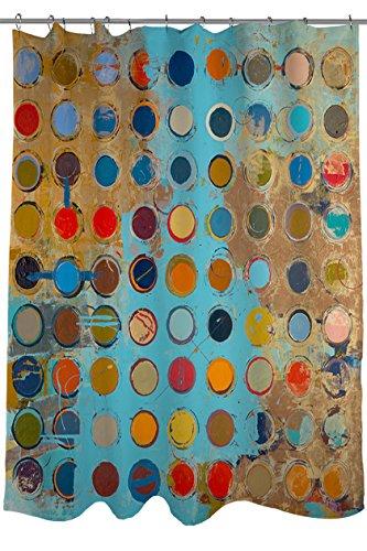 Thumbprintz Fabric Shower Curtain, Fibonacci front-484786