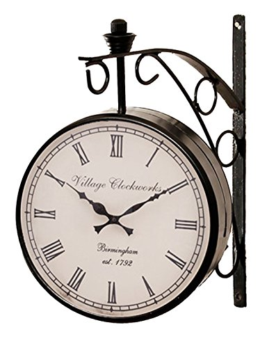RoyalsCart Double Sided Railway Station/Platform Analog Wall Clock