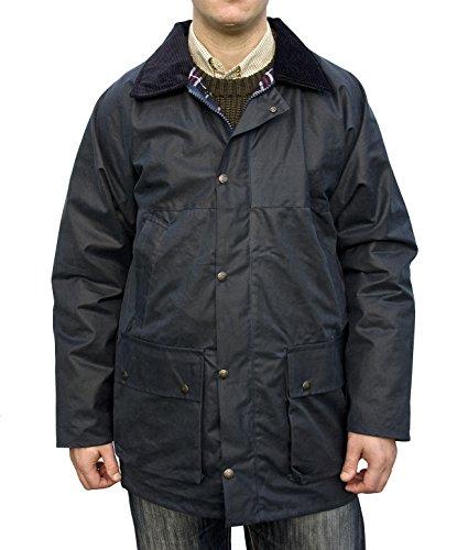 hunter-outdoor-new-england-jaeger-unpadded-unisex-mens-ladies-wax-jacket-x-large-navy
