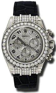Rolex Daytona Diamond 18K White Gold Mens Watch 116519