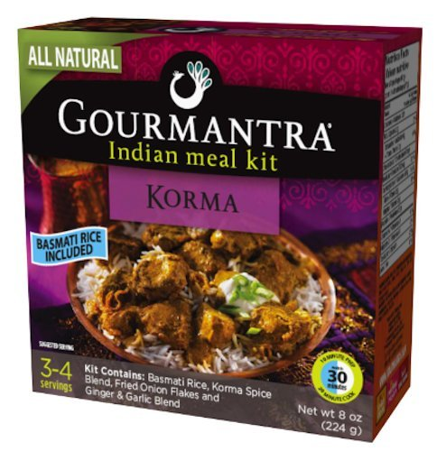 Gourmantra Korma Indian Meal Kit, 8-Ounce Boxes (Pack of 6)