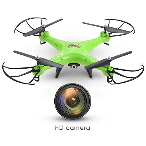 Holy Stone HS110 FPV Drone with 720P HD Live Video Wifi Camera 2.4GHz 4CH 6-Axis Gyro RC Quadcopter with Altitude Hold, Gravity Sensor and Headless Mode Function RTF, Color Green (Shark Tank Products For Kids compare prices)