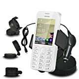 Fone-Case Nokia Lumia 810 In Car Mini 360 Rotating Windscreen Cradle Mount Mobile Phone Holder With 12V Micro USB In Car Charger