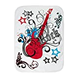 Royal Lion Baby Blanket White Rock Guitar Music Notes Treble Clef
