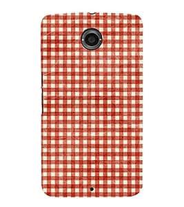 Red Checks Pattern Cute Fashion 3D Hard Polycarbonate Designer Back Case Cover for Motorola Nexus 6 :: Motorola Nexus X :: Motorola Moto X Pro :: Motorola Google Nexus 6