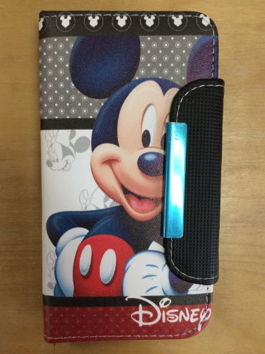 Mickey Mouse Pu Leather Case Wallet For Samsung Galaxy S5 I9600 Us Seller #5