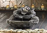 MARBLEIZED ORB ROCK DESIGN TABLETOP WATER FOUNTAIN
