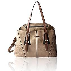 DAVID JONES DJ384_BEIGE Alfreda Women's Handbags