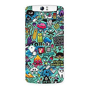 Cute Premier candy Multicolor Back Case Cover for Oppo N1