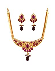 Variation Fashion Party Wear Necklace Set For Women