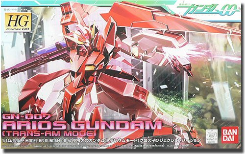 Gundam 00: Arios Gundam Trans-Am Mode Gloss Injection Ver. High Grade Model Kit 1/144 Scale #57
