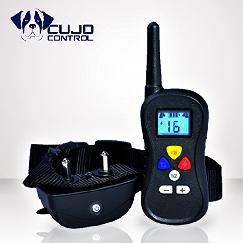 Cujo Control CC-810A-Best Wireless Dog Training Collar With Remote-16 Levels Shock & Vibration-Electric E Collar for Large, Medium, and Small Dogs-Water Resistant Anti Bark Collar-100% Guarantee!