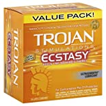 Trojan Ecstasy Latex Condoms, Ultrasmooth Lubricant, 26 ct.
