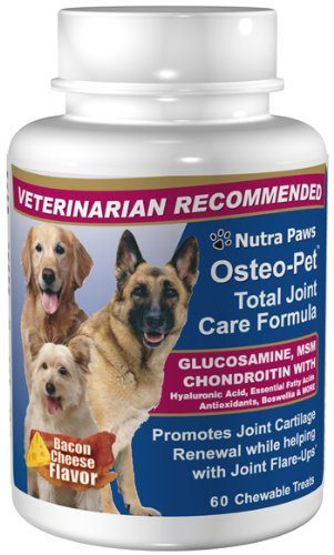 Osteo-Pet Total Joint Care for Dogs - Glucosamine Chondroitin, MSM, Hyaluronic Acid, Boswellia and more.