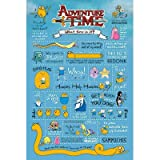 (24x36) Adventure Time Infographic TV Poster