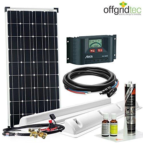 offgridtec solaranlage f r wohnwagen sm100 12 v komplett set 100. Black Bedroom Furniture Sets. Home Design Ideas