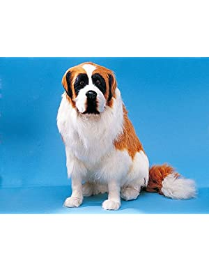 Saint Bernard Collectible Dog Figurine Puppy Decoration Statue Model