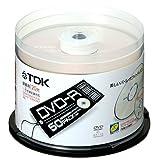 TDK DVD-R録画用 1-8倍速記録対応 50枚入り [DVD-R120ALX50PU]
